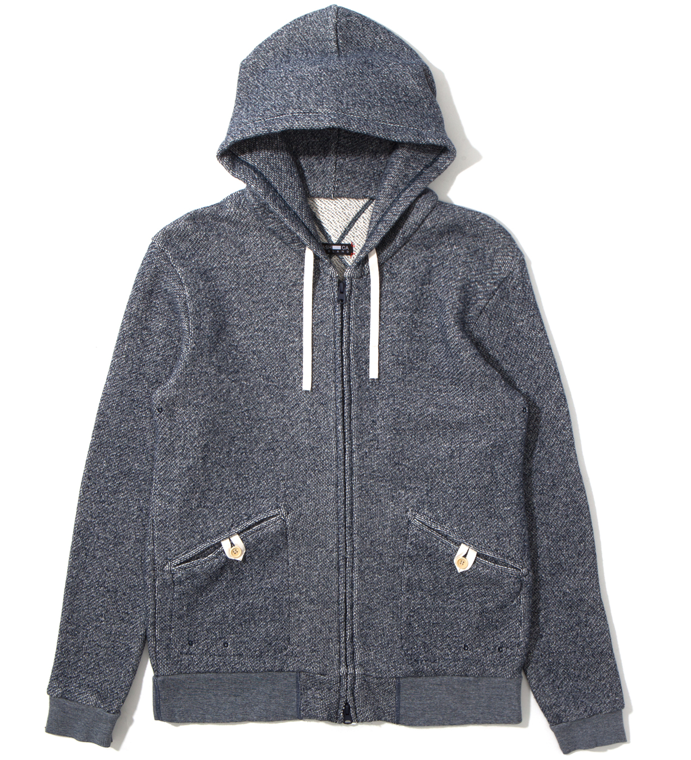 CASH CA Navy Heavy Weight Zip Parka