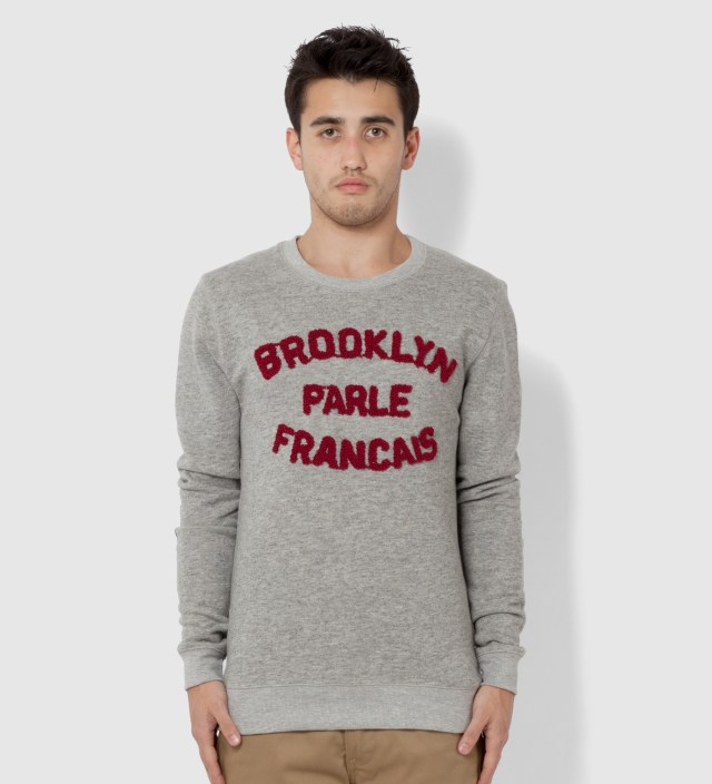 BWGH Grey and Burgundy Brooklyn Parle Francais Sweater