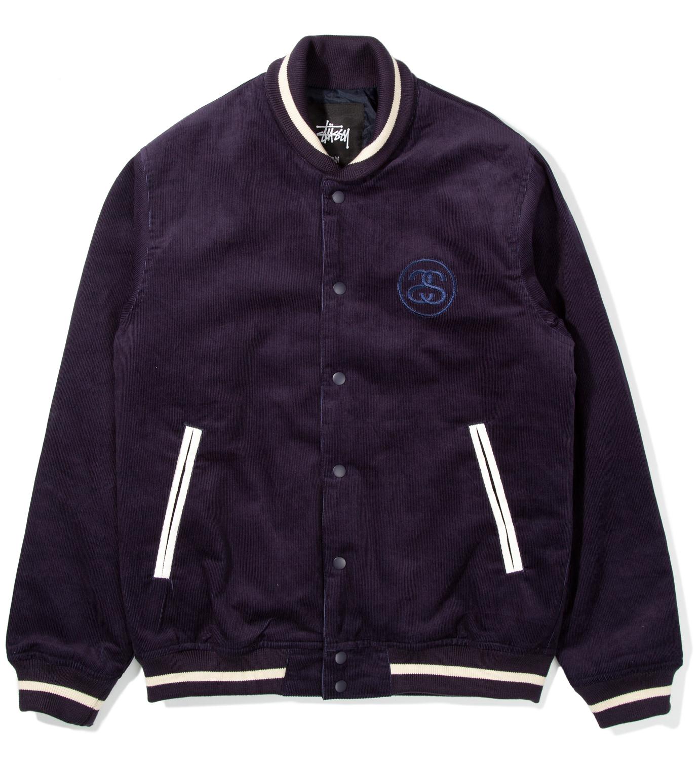 Stussy Navy Cord Varsity Jacket