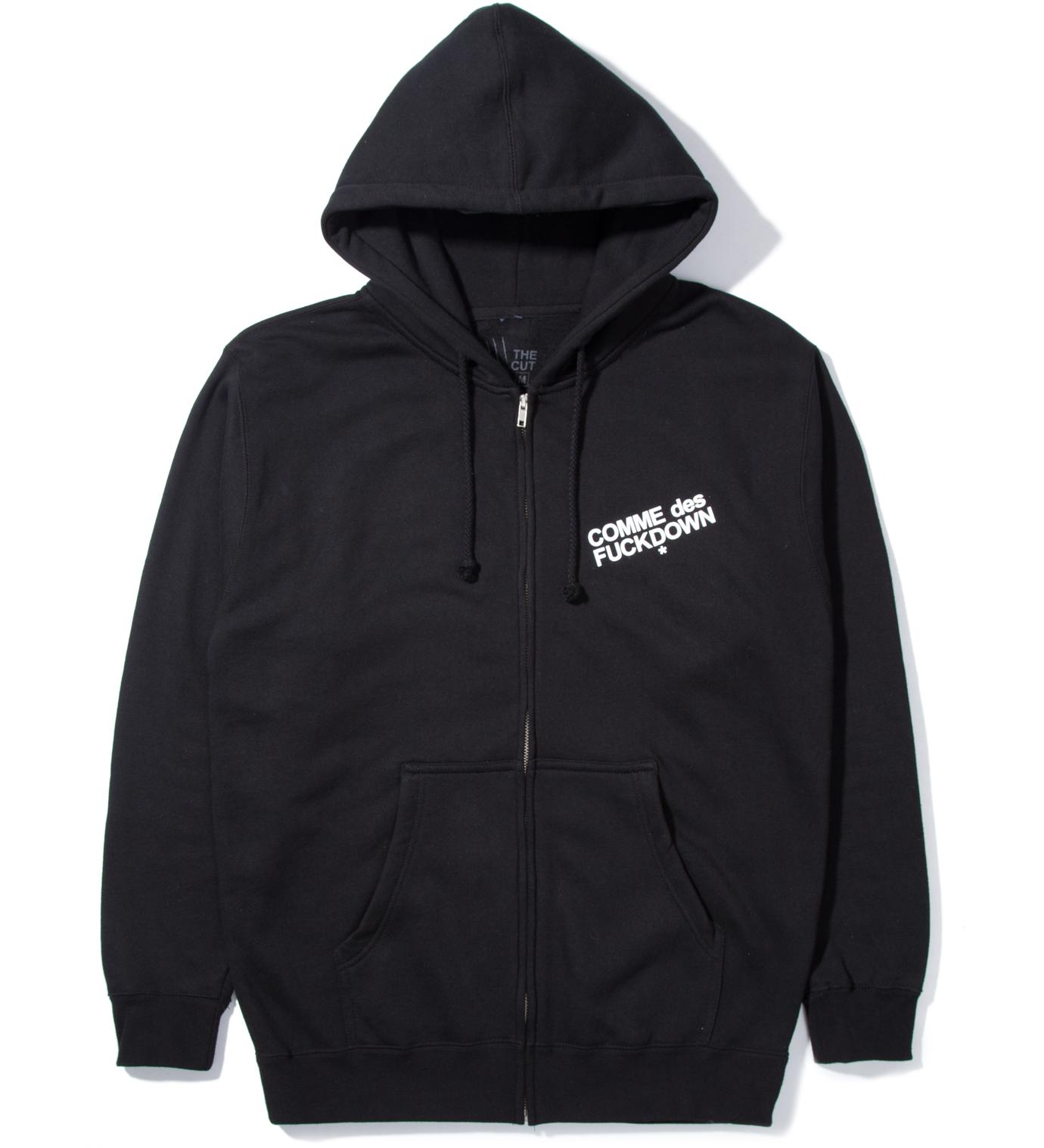 SSUR Black Comme des Fuckdown Zip Hoodie