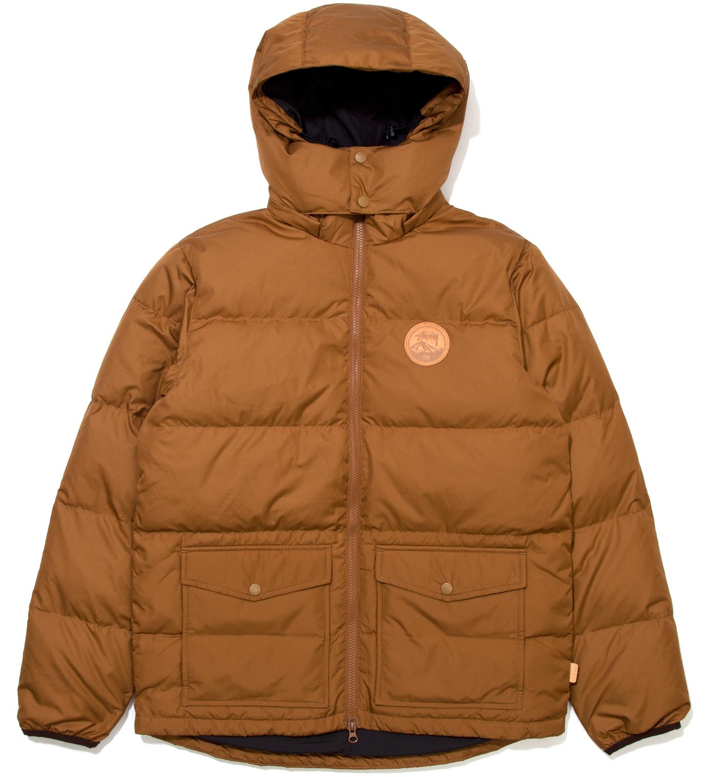 Stussy Brown Westridge Down Hooded Jacket
