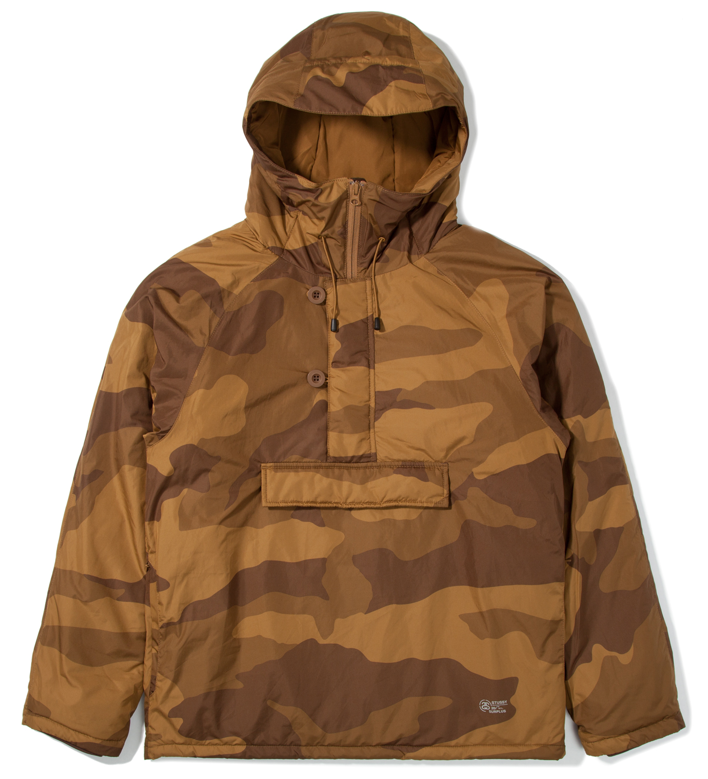 Stussy Khaki Camo Force Pullover