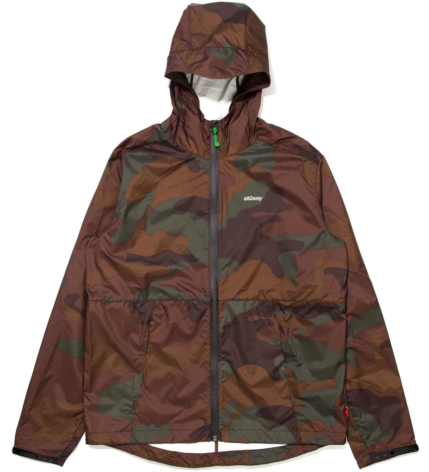 Stussy Brown Pinnacle Tech Hood Jacket