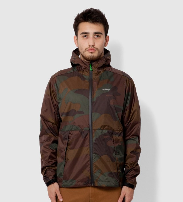 Stussy Brown Pinnacle Tech Hood Jacket