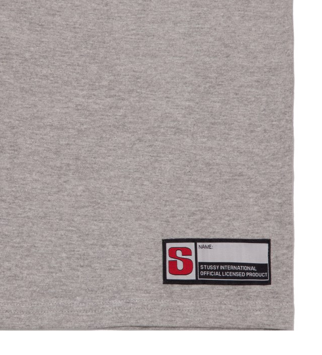 Stussy Grey Heather #12 Football Jersey Long Sleeved T-Shirt
