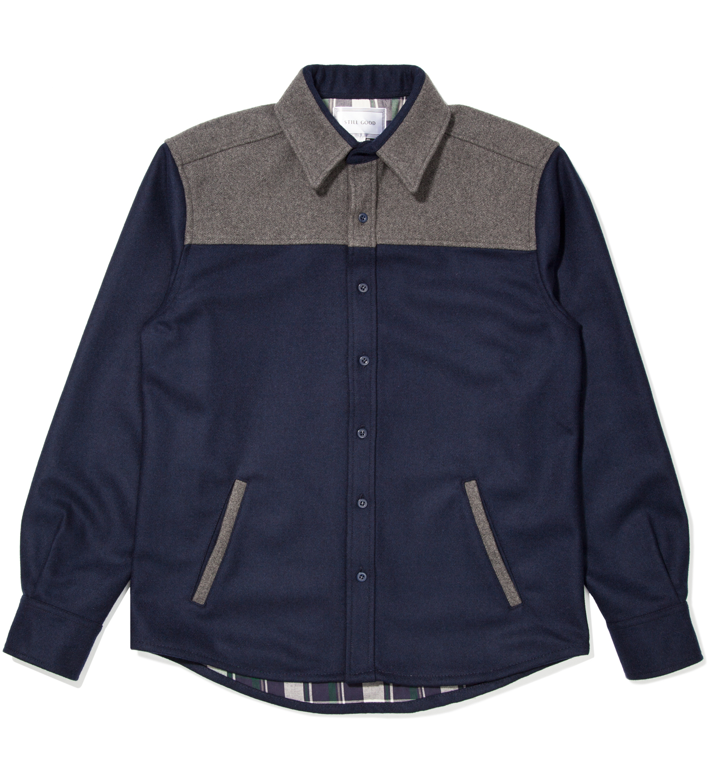 Still Good Navy and Grey Contrast Shirt