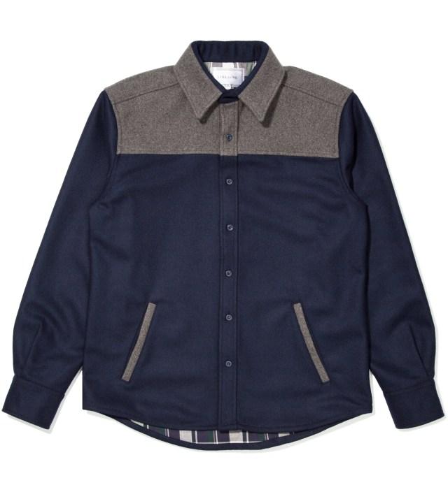 Still Good Navy and Grey Contrast Shirt