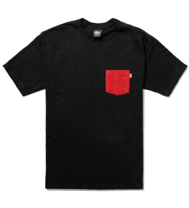 Stussy Black Flannel Pocket T-Shirt