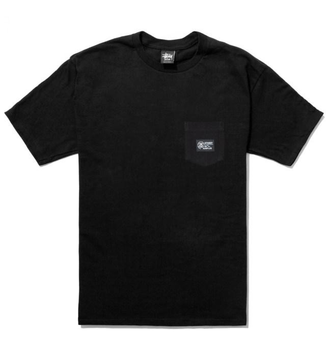 Stussy Black Locker Pocket T-Shirt
