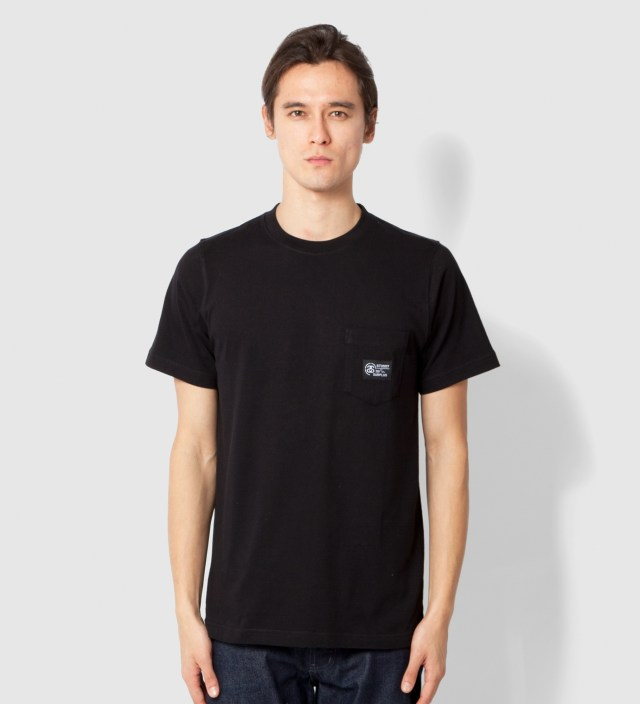 Stussy Black Locker Pocket T-Shirt