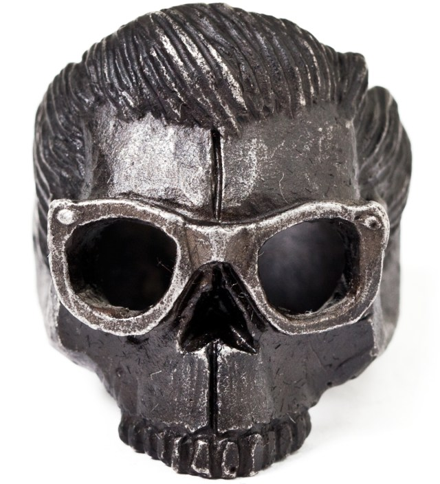Mister Black Dead Serious with Glasses Ring