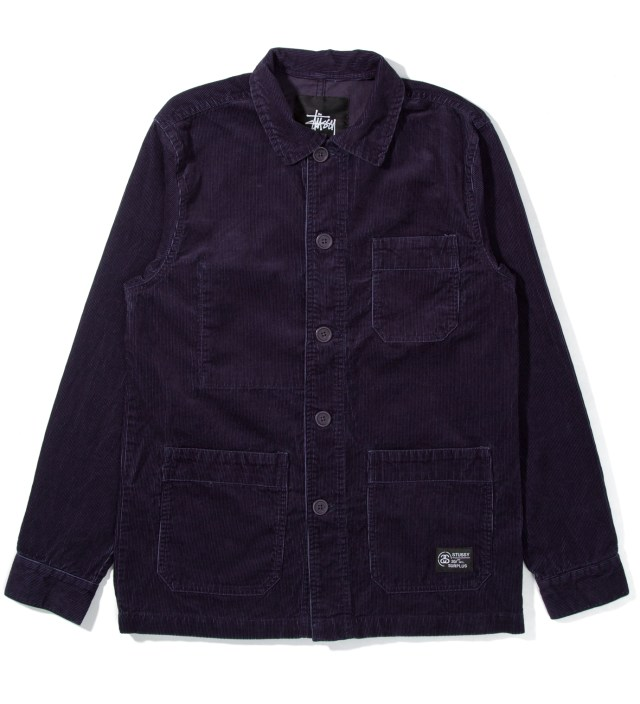 Stussy Navy Cord Work Jacket