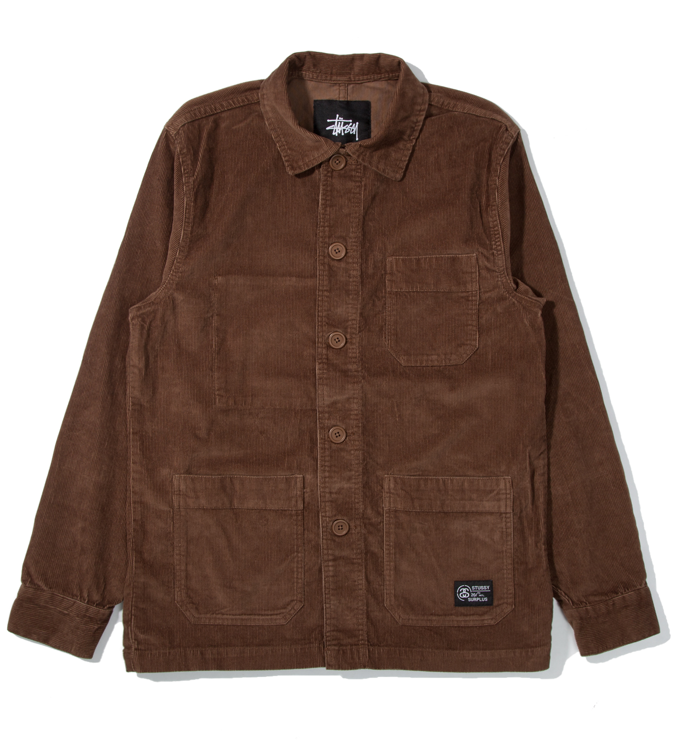 Stussy Brown Cord Work Jacket