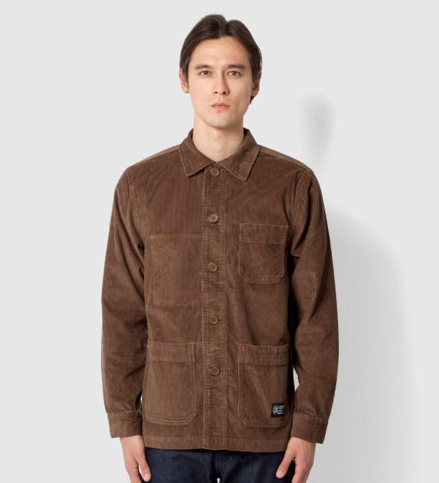 Stussy Brown Cord Work Jacket