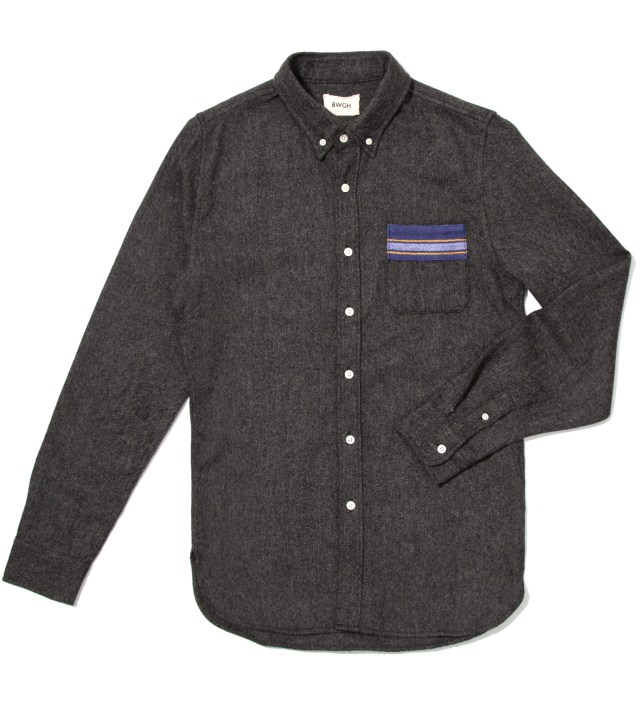 BWGH Anthracite Lemba Flannel Shirt