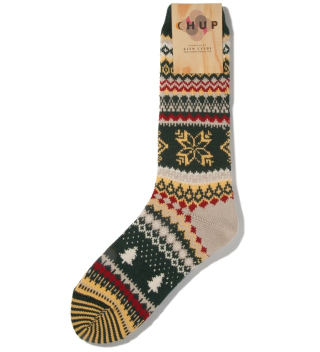 CHUP Green Qanik Socks