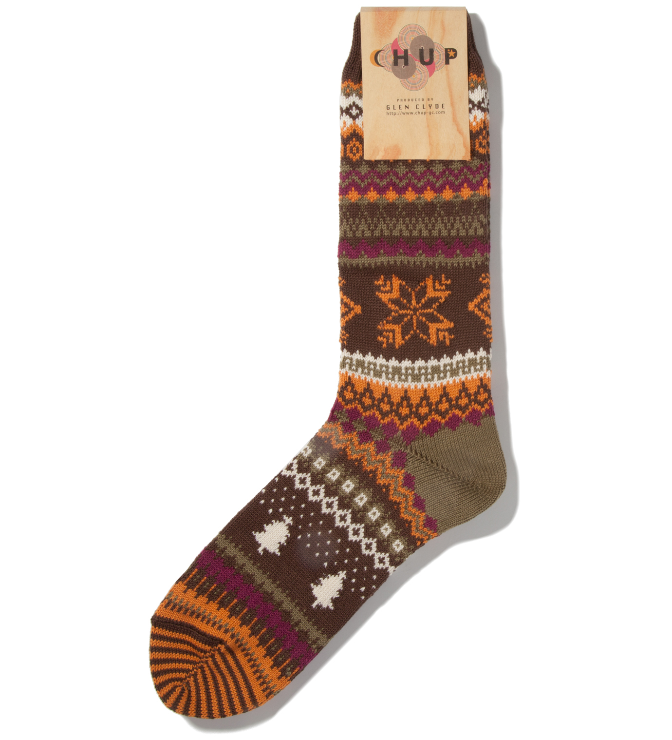 CHUP Brown Qanik Socks