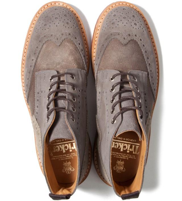CASH CA Cash Ca x Tricker's Grey Full Brogue Derby Boots