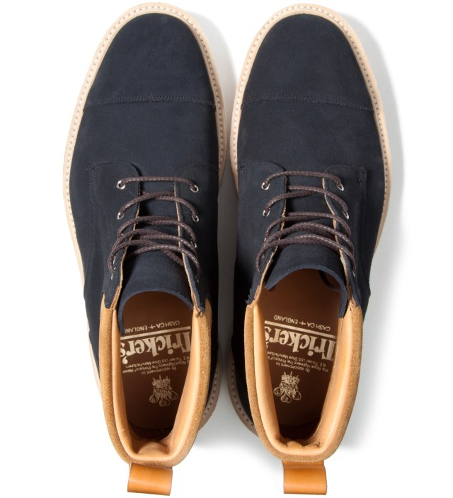 CASH CA Cash Ca x Tricker's Navy & Tan Capped Toe Derby Boots