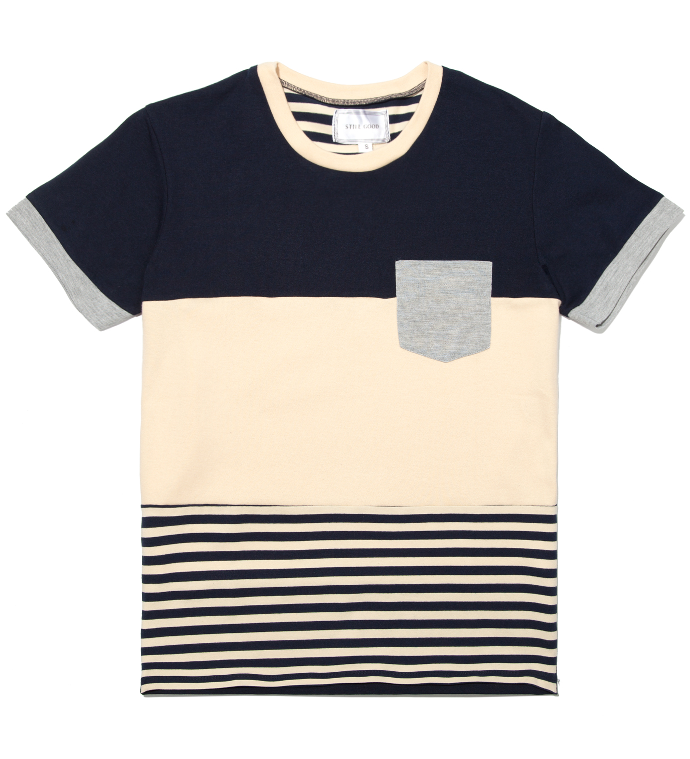 Still Good Navy and Beige Cohesion T- Shirt