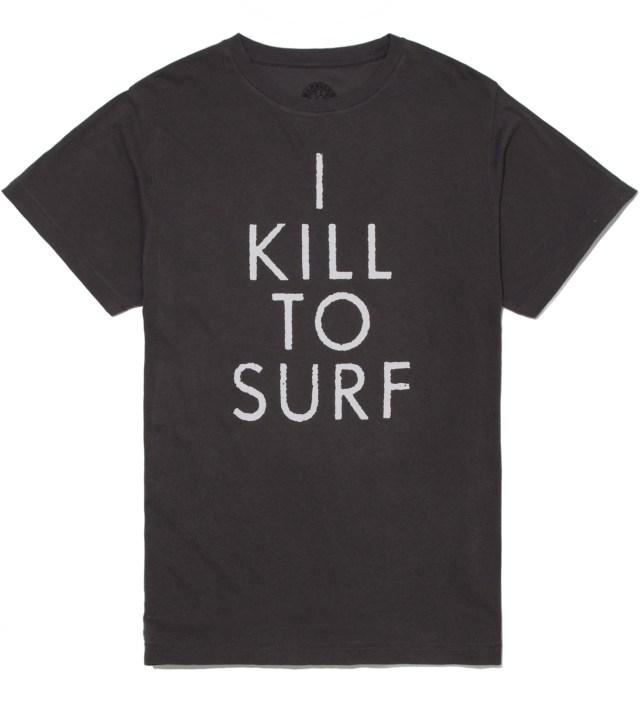 Warriors of Radness Black I Kill To Surf T-Shirt