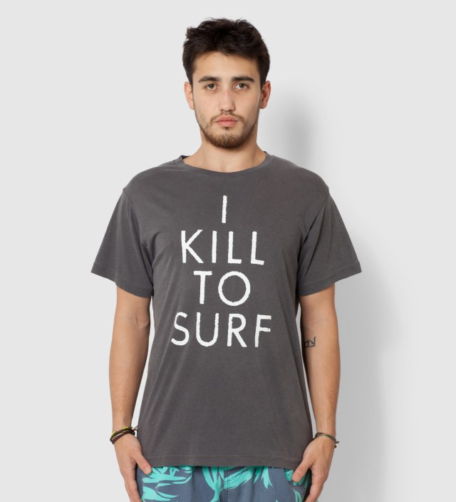 Warriors of Radness Black I Kill To Surf T-Shirt