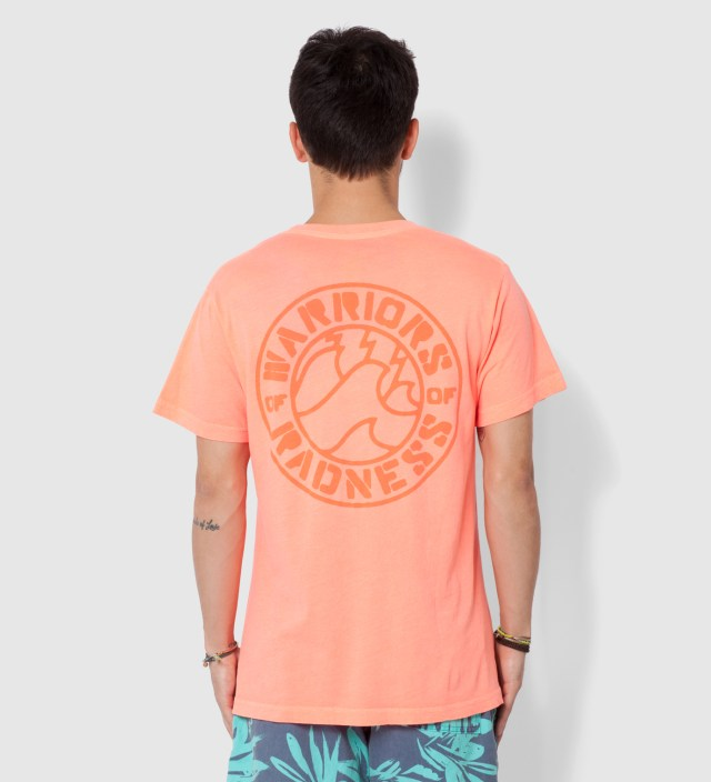 Warriors of Radness Neon Red Strikers Stencil T-Shirt