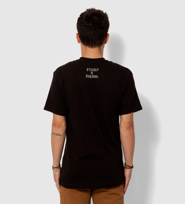 Stussy Black Real Deal Bar T-Shirt
