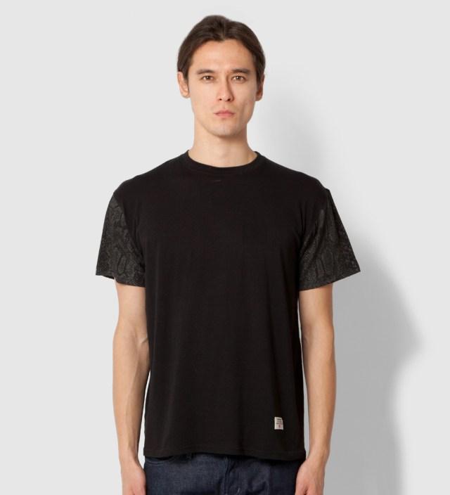 Mister Stevin Gold x Mister Black Snake Sleeve T-Shirt