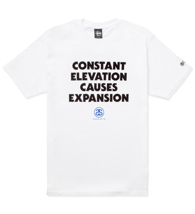 Stussy White Elevation T-Shirt