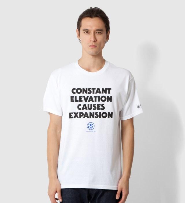 Stussy White Elevation T-Shirt
