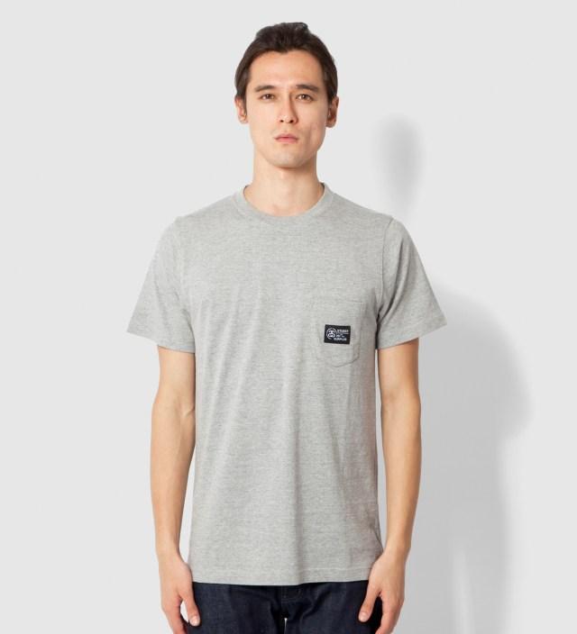 Stussy Heather Grey Locker Pocket T-Shirt