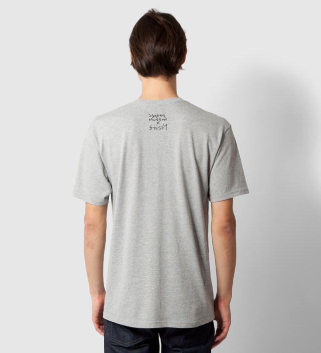 Stussy Heather Grey Dolphin Static T-Shirt