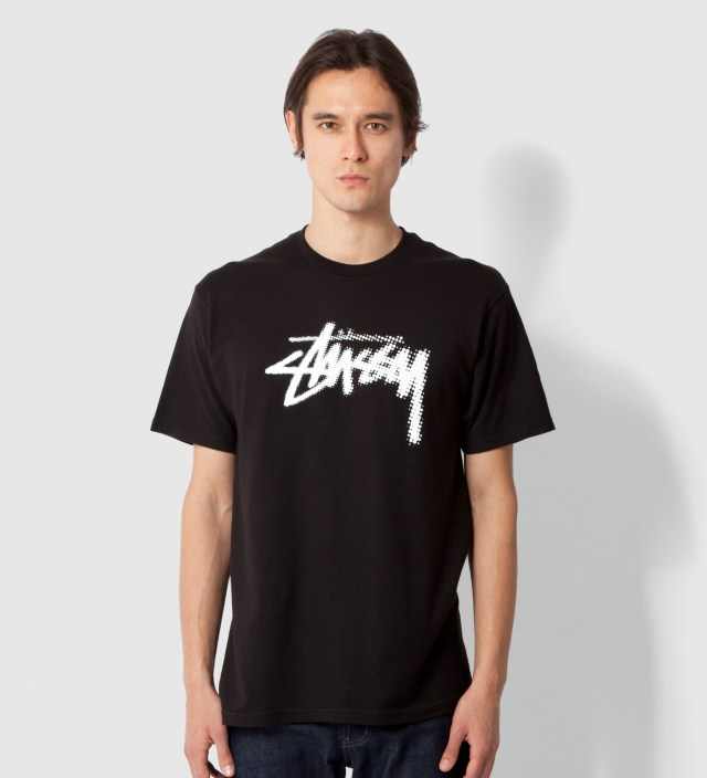Stussy Black Halftone Stock T-Shirt