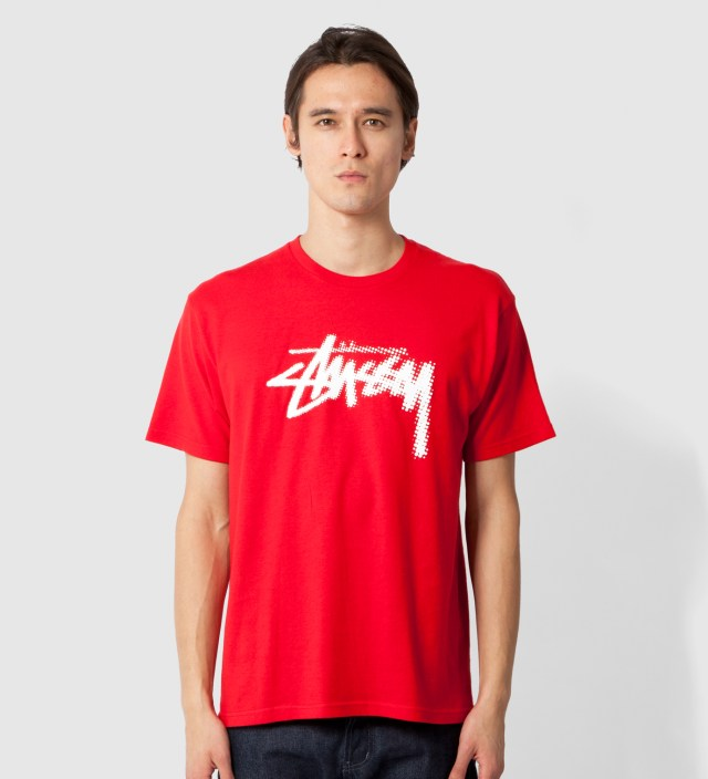 Stussy Red Halftone Stock T-Shirt