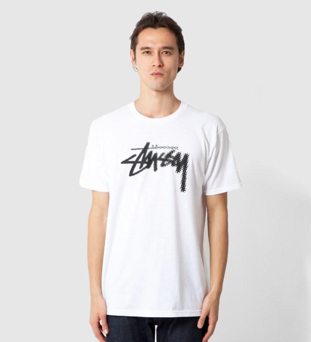 Stussy White Halftone Stock T-Shirt