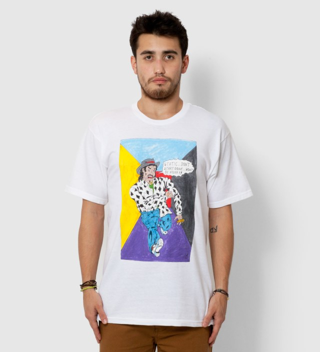 Stussy White Real Deal Static T-Shirt