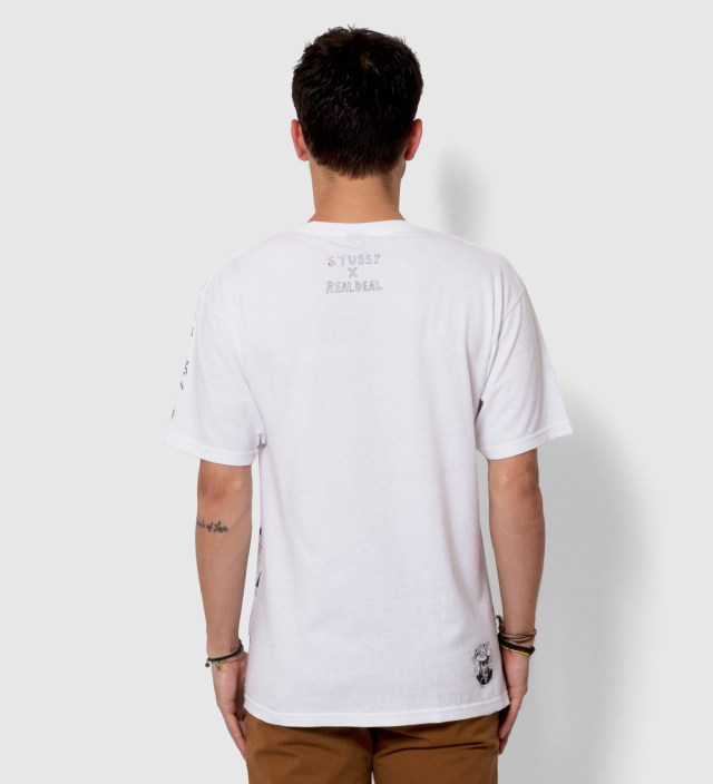 Stussy White Real Deal Bar T-Shirt