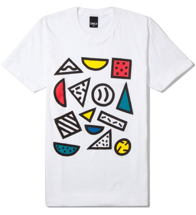 ONLY NY White Shapes T-Shirt
