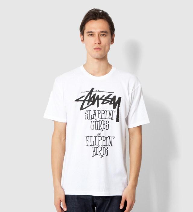 Stussy White Slappin Curbs T-Shirt