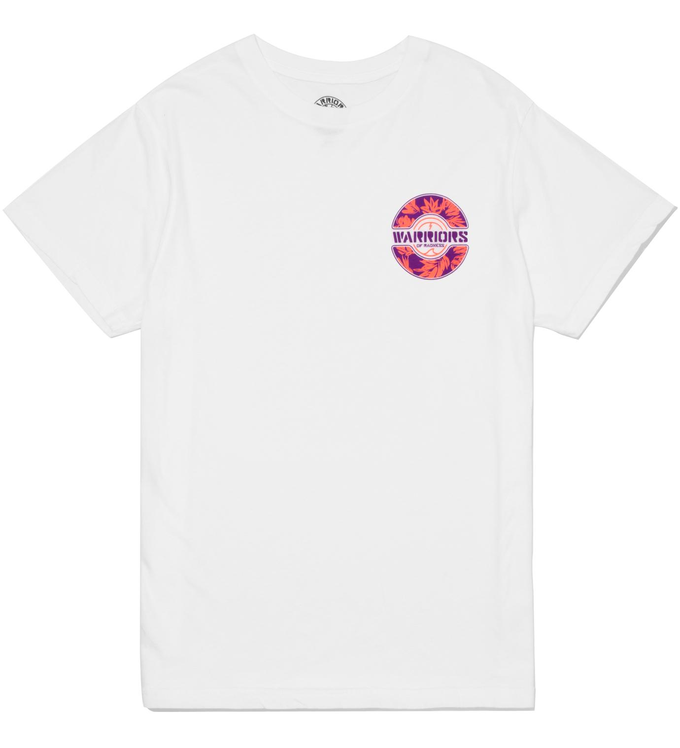 Warriors of Radness White Foliage Logo T-Shirt