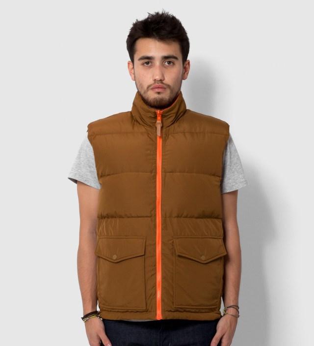 Stussy Brown/Orange Westridge Reversible Down Vest