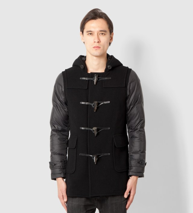 Head Porter Plus Black Down Duffle Coat