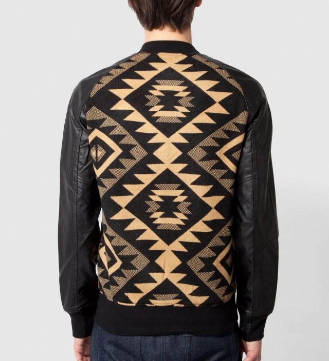 Shades of Grey by Micah Cohen Black Navajo Baseball Jacket