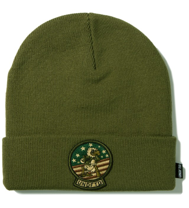 UNDEFEATED Olive Tomcat Cuff Beanie