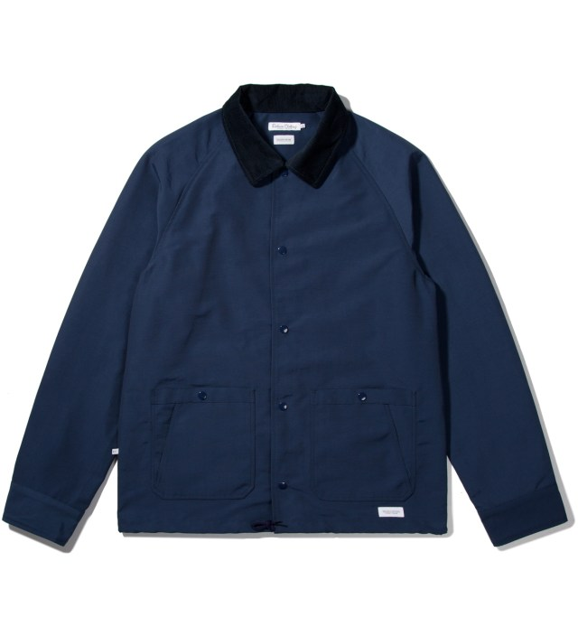"DELUXE Deluxe for Hypebeast Navy ""Bench Rider"" Coach Jacket"