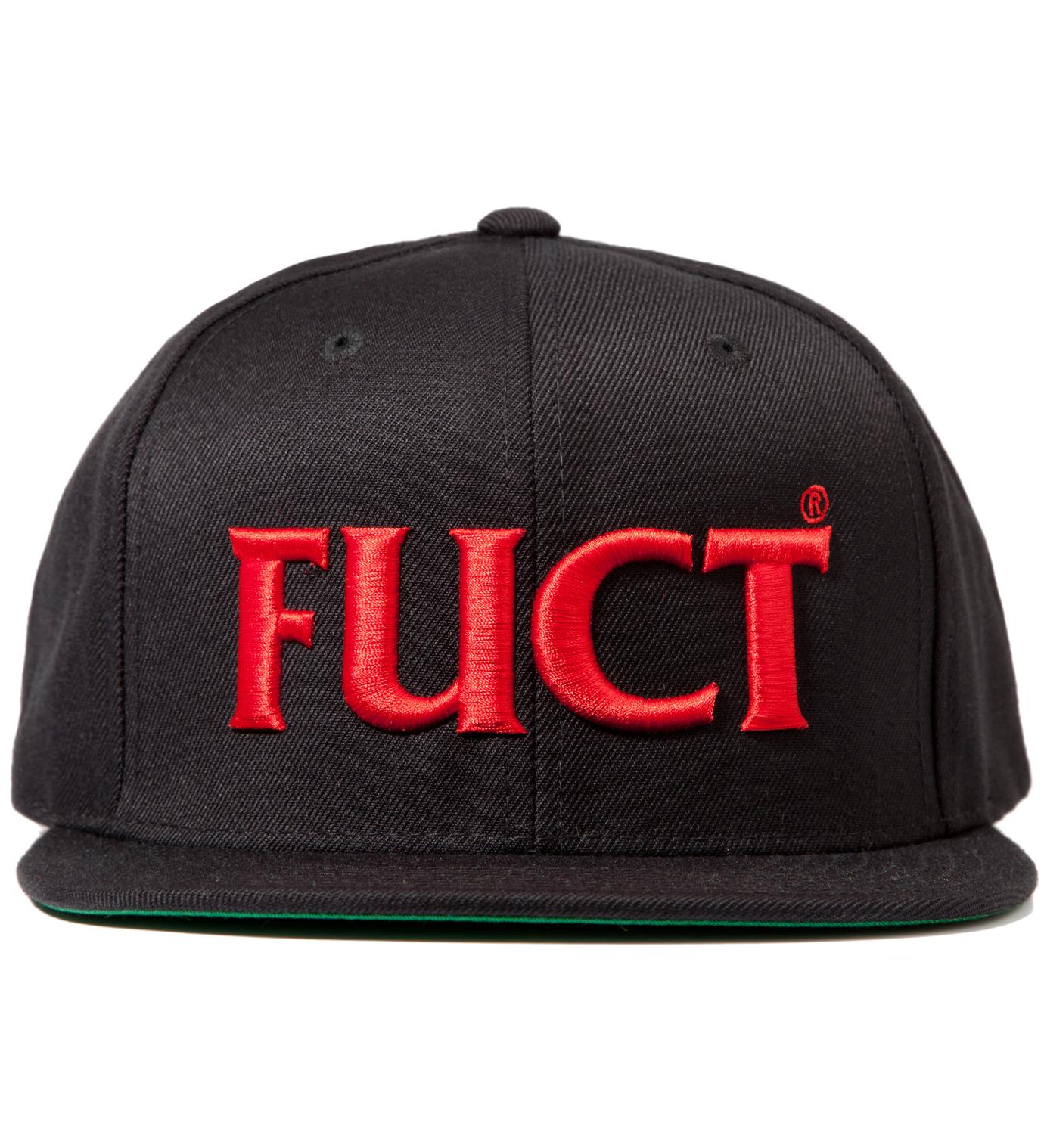 FUCT Black/Red FUCT Wars Logo Snapback Cap