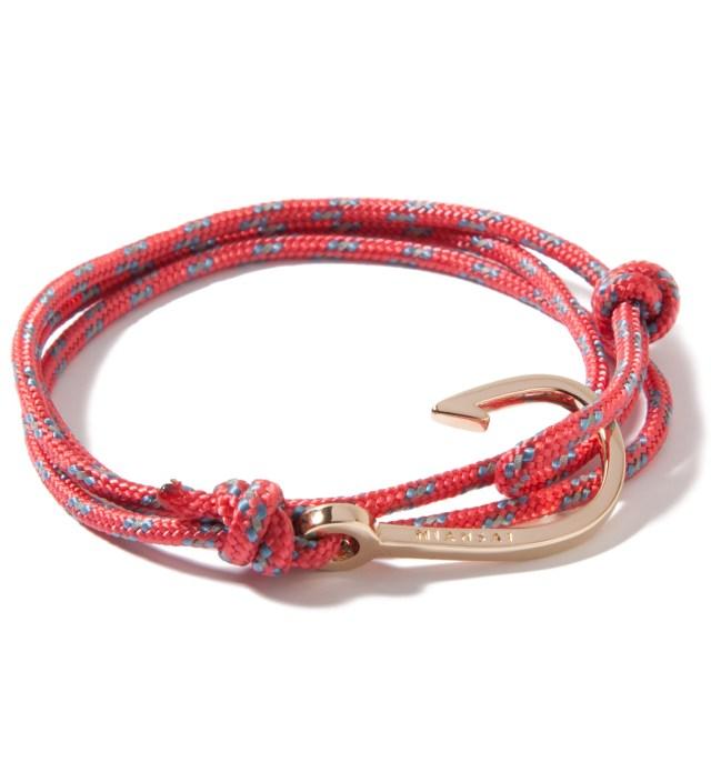 Miansai Gold Hook on Salmon Rope Bracelet
