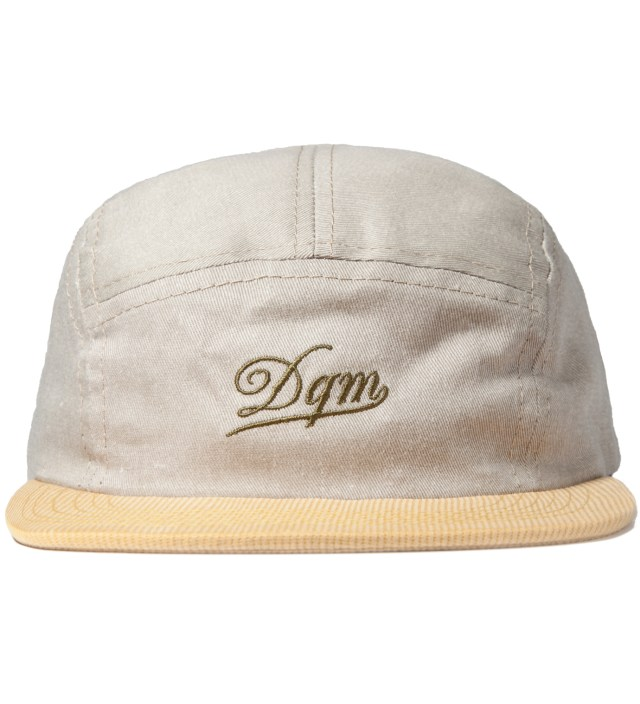 DQM Khaki/Yellow Tulsa Disressed Twill Camp Cap