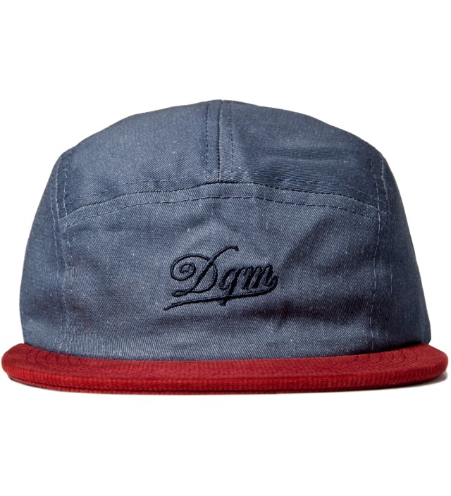 DQM Navy/Red Tulsa Disressed Twill Camp Cap